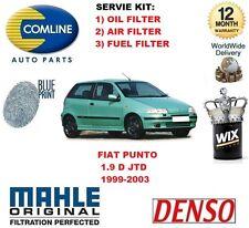Per FIAT PUNTO 1.9 D + 1.9 Multijet 1999-2003 Kit Di Servizio Aria Olio Kit Filtro Carburante