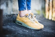 UK 5.5 Nike Air Max 1 LTR PRM Trainers EUR 38.5 US 6Y Brown Green Wheat Pack