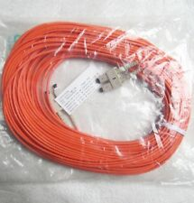 NEW Duplex 62.5 SC SC 3mm Fiber Optic Cable 82 foot Corning Sleeve ( lot of 2 )