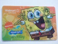 Walmart Gift Card - Lenticular Spongebob Squarepants - Collectible - No Value