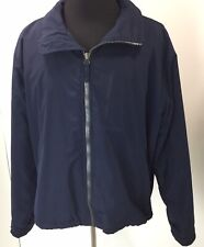 Polo Ralph Lauren Men's Size XXL Navy Blue Polyester Jacket Coat w Packable Hood