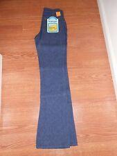 Hippy 60's Vintage Wrangler Regular Fit Boot Unisex Blue Jeans Denim Pants 28x36
