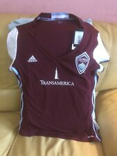 ADIDAS COLORADO RAPIDS MLS SOCCERS TEAM JERSEY WOMENS NWT SIZE L