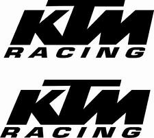 2 X KTM RACING VINYL DECALS MX STICKER MOTORBIKE MOTORCYCLE RACE TRACK BIKE