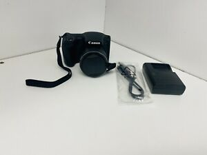 Canon PowerShot SX420 IS Black 20MP Digital Camera New No Box With Charger