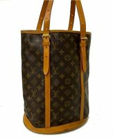 LOUIS VUITTON Monogram Bucket GM Shoulder Bag M42236 LV E-1123 Sticky, JUNK