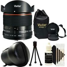 Vivitar 8mm Fisheye Lens for Canon + Vivitar 8MM Hard Shell Case + Cleaning Kit