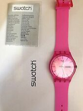 """OROLOGIO SWATCH """"NEW GENT"""" -PINK REBEL- REF. SUOP700  -NUOVO"""