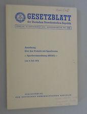 Gesetzblatt der DDR ~Anordnung über den Verkehr mit Sportbooten 2.7.1974