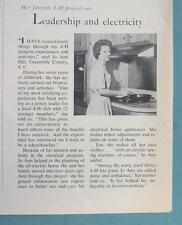 Original 1965 4-H Ad Photo Endorsed Jo Ann Hill of Greenville Country SC