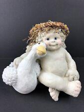"Dreamsicles ""Me and My Shadow� Cherub Goose 1993 Retired Dc 116 Original 29"