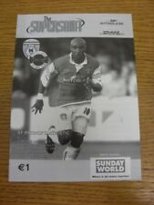 20/07/2003 St Patricks Athletic v Carlisle United [Friendly] (slight fold). Than