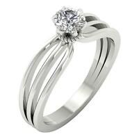 Split Shank Round Diamond Solitaire Engagement Ring 0.65 Ct SI1 G 14K Solid Gold