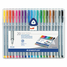 Staedtler ~ Triplus Fineliner 0.3mm Porous Point Pens ~ 20 Colors - Marker Pen