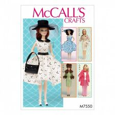 McCalls Craft Sewing Pattern 7550 Retro Style Doll Clothes & Accessories ...