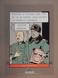 Jacobs. Blake et Mortimer. Sérigraphie. Olrik. 1988