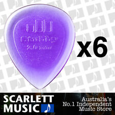 6 x Jim Dunlop Jazz Stubby 2.00MM Gauge Guitar Picks *NEW* Plectrums, Purple