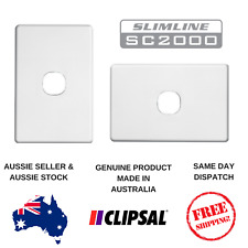 White Cover Plate to suit Clipsal Slimline 1 Gang Switch / TV / Data SL2031VH