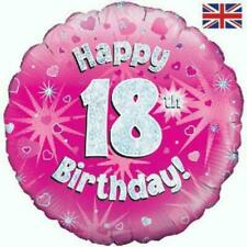 18 Inch Happy 18th Birthday Pink Foil Balloon