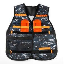 Adjustable Tactical Vest with Storage Pockets for Nerf N-Strike Elite Team Toy L