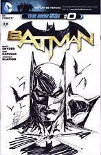 BATMAN 0 BLANK SKETCH COVER WITH ORIGINAL ART BY MARC SILVESTRI