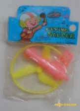 FLYING SAUCER sous sachet Vintage 70' Made in HONG KONG - Soucoupe Volante Jaune