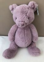NEW Jellycat Medium Puffles Piglet Pig Soother Soft Toy Baby Comforter Pink BNWT