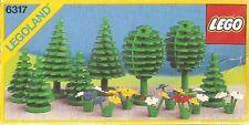 LEGO TREES & FLOWERS 6317 Set Classic Town City park fruit pine plants