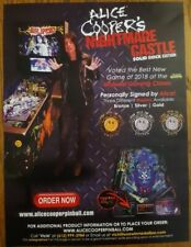 ALICE COOPER'S NIGHTMARE CASTLE by Spooky Pinball pinball flyer