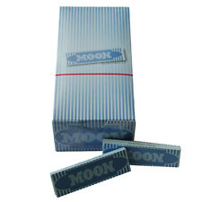 """1 box 50 booklets 1.0"""" Moon Blue Rolling Papers 70x36 mm 1.0 inch Slow Burning"""