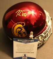 Kedon Slovis Signed USC Trojans Chrome Mini Football Helmet w/Beckett COA C