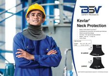 BSV XL Neck Protector - Cut/Stab/Heat Resistant- Black-Yellow- Made With Kevlar