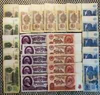 Russia USSR 1961 1,3,5,10,25 rubles x5 banknotes. F-VF. 25 banknotes.Low price!