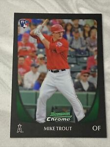 2011 Bowman Chrome #175 Mike Trout RC Rookie  🔥🔥