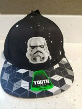 Star Wars Black And White Stormtrooper Kids Youth Hat Cap Osfm