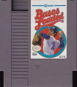 BASES LOADED (1988) nes nintendo baseball blue logo variation us NTSC USA IMPORT