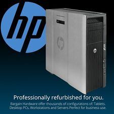 HP Z620 2x E5-2690 2.90GHz Eight Core Xeon Workstation NVidia 4GB Graphics 192GB