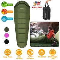 Mummy Sleeping Bag Warmly -5°C ~ 10°C 3 Season Outdoor Camping Hiking Washable