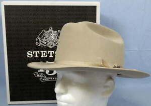 Stetson Open Road Hat 6X Fur Felt Silverbelly Size 7 1/2 Cattleman Crown