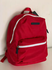 NEW! TOMMY HILFIGER RED NYLON TRAVEL WORK LAPTOP BACKPACK BAG PURSE $98 SALE