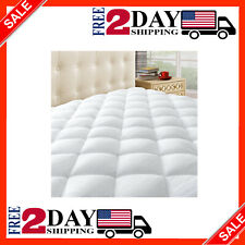 Thick Queen Size Mattress Pad Cover Pillow Top Topper Padded Luxury Bed Cooling