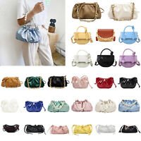 Women Leather Shoulder Sling Bag Elegant Saddle Messenger Crossbody Handbag LOT