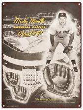 1953 Mickey Mantle Rawlings Baseball Advertising Metal Repro Sign 9x12 60089