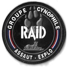 Ecusson PVC POLICE NATIONALE R.A.I.D ASSAUT EXPLO GROUPE CYNOPHILE