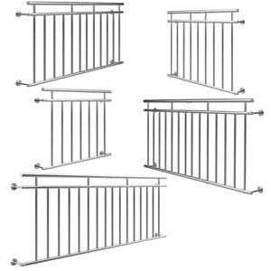 Französischer Balkon Edelstahl Stabgeländer Balkongeländer Fenstergitter Stahl