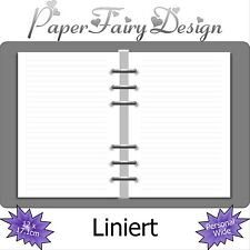 Kalendereinlagen Liniert in Personal Wide, Terminplaner, filofaxing, Notizen,