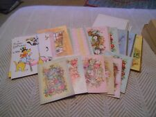 Lot of 22 Vintage Birthday Greeting Cards, 1 Get Well, 1 Anniversary, 2 Hi