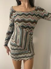 Missoni limited Collection vintage woolen dress Size 8 Made In Italy