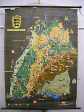 Murs Carte Bade-Wurtemberg Vintage German Wall Map 120x165cm ~ 1960 IMAGE