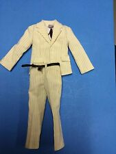 1/6-SCALE- WHITE.. PINSTRIPE SUIT.....PERFECT FOR GANAGSTA